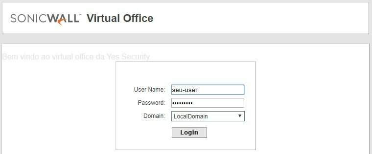 portal SonicWall Virtual Office