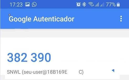 geracao de token no Google Authenticator